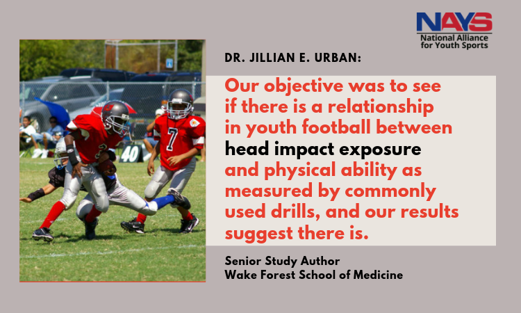 Player athleticism increases head impact exposure in youth football