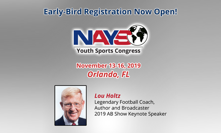 Register now and save big for 2019 Youth Sports Congress