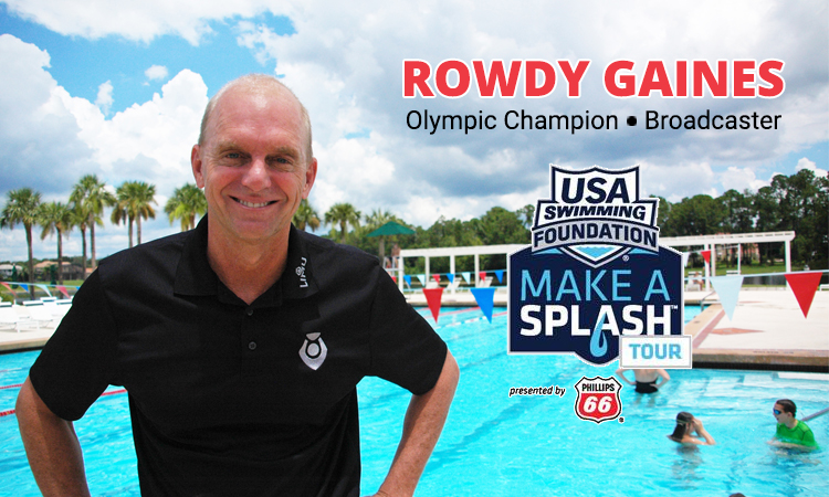 Olympic champion Rowdy Gaines focused on saving lives